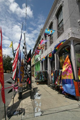 Flamboyant flag shop, New Orleans.