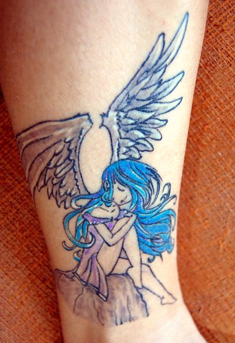 Angel Tattoo in Color,tattoos,tattoo designs