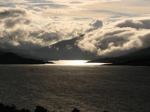 Lago Calima.Cae la tarde.