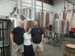 The Schooner Exact Crew looks happy to be settling into their new space and brewhouse.