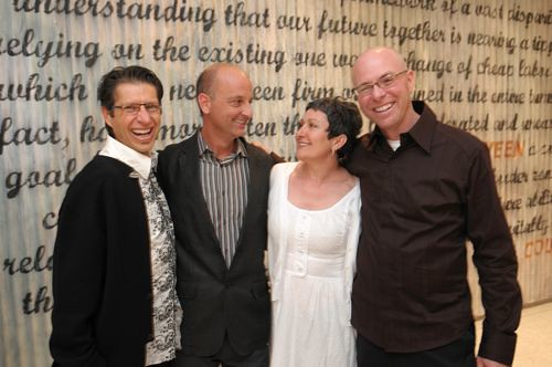 Hector Perez, James Gates (Public), Isabel Dutra, James Brown (Public) at the MIX opening. (All photos by Lauren Radack)