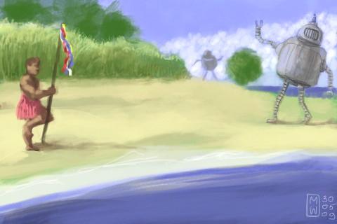 The robots on the beach - 2