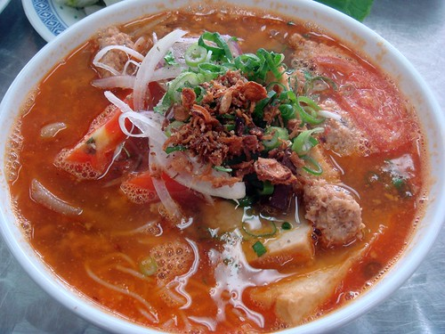 Crab paste noodle soup