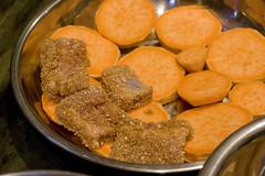 layer pork on yam