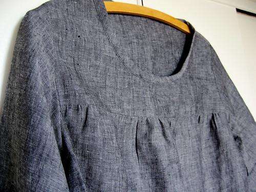 grey linen top