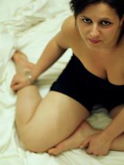 Sospesa (Capannella) Tags: portrait woman girl face mouth donna eyes legs body occhi ritratto bocca viso corpo gambe