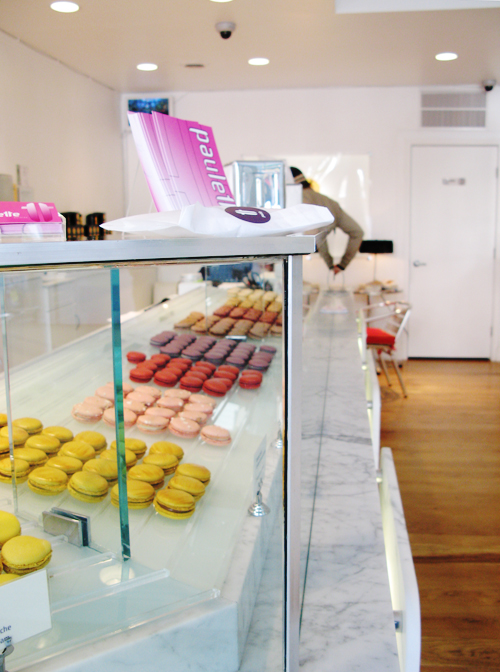 Paulette Macarons display case