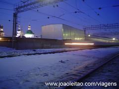 Estação de comboios no centro de Moscovo, Rússia