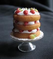 12th Scale Brambly Hedge Cake (goddess of chocolate) Tags: food cake miniature doll strawberries mini polymerclay 112 strawberryshortcake dollhouse bramblyhedge miniaturefood 12thscale summerstory