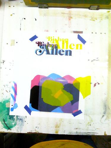 Bishop Allen - 3rd & final color, registering