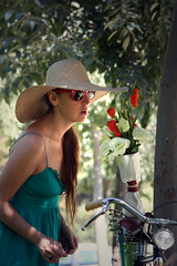 La Florista (alzzio) Tags: chile flores los bicicleta reyes brooks florista providencia silvana floristas