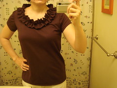 whole shirt Simplicity 2599 view E minus bow plus sleeves
