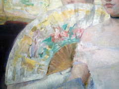 Mary Cassatt, The Loge with detail of fan