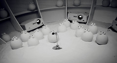 Papalla (Sara Fasullo) Tags: mostra bw art palle pac pianeta armandotesta papalla