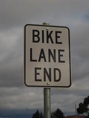 Bike Lane End- Words (Snapper in Batter) Tags: bike bicycle sign australia victoria lane end
