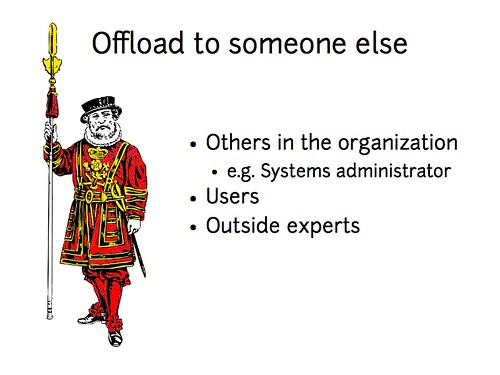 w2sp: Slide 25: Offload security to others
