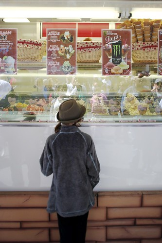Kid at Ice Cream Store