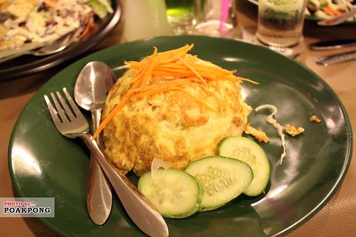 ข้าวไข่เจียวกุ้งสับ