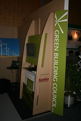 Green Building Council expo booth using printed X-Board Kraft