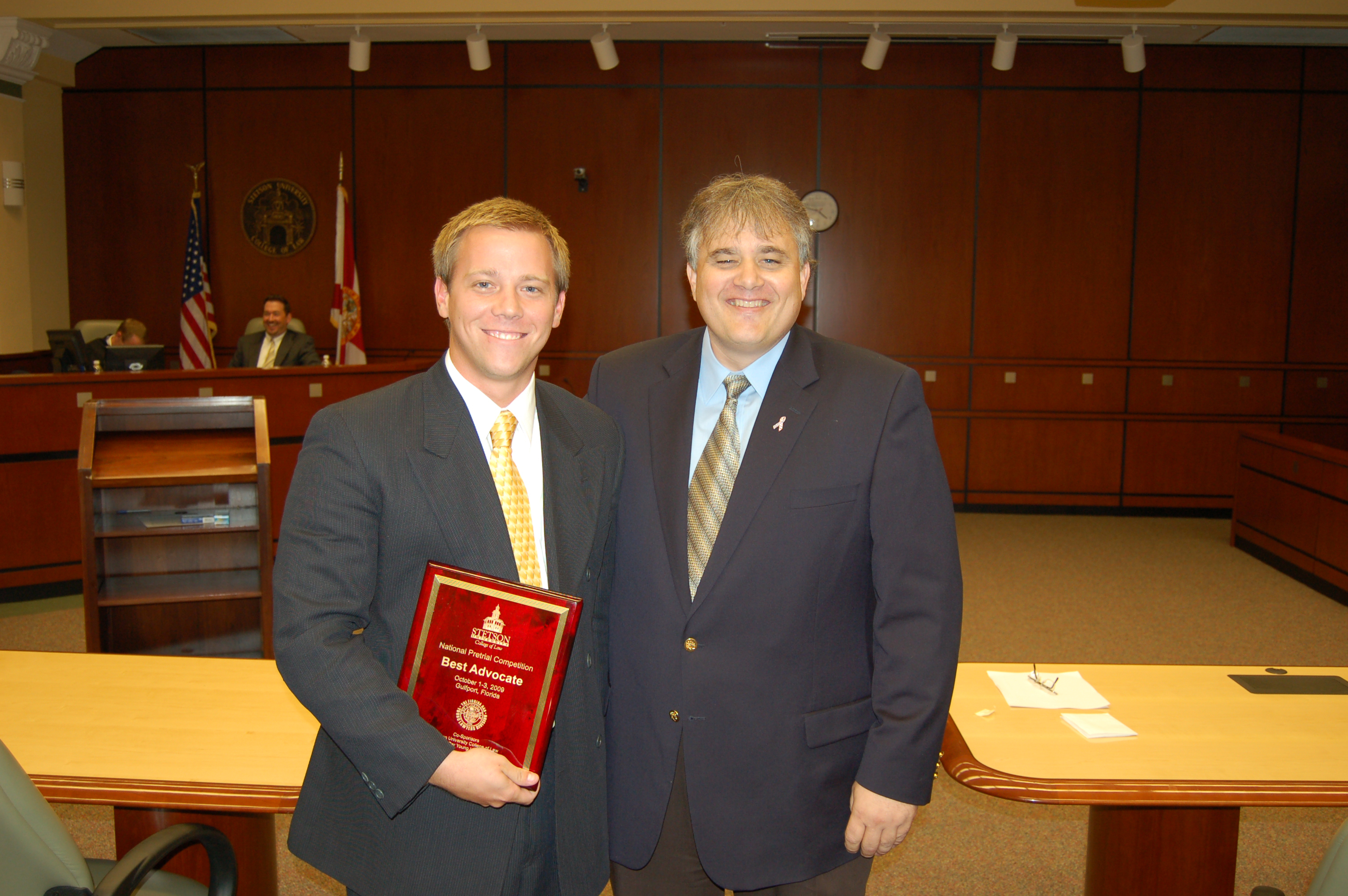 Best advocate regent law student jerry harris with professor charles h rose iii stetson s