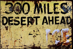 300 Miles (Junkstock) Tags: old arizona signs texture sign yellow rural vintage typography photography photo graphics junk rust graphic photos antique decay steel rustic rusty advertisement textures photographs photograph signage type americana weathered antiques aged artifact distressed corrosion artifacts patina relic rustyandcrusty oldstuff hackberry rt66 ruralexploration oldandbeautiful
