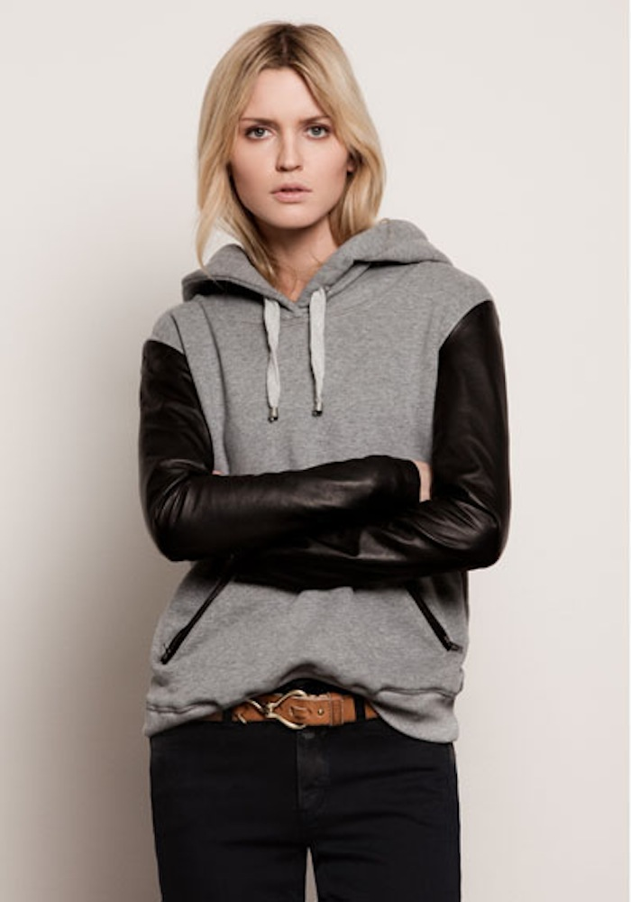 Closed Fall 2011 leather sleeve hoodie