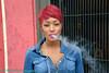 SOMA SF / Street A woman smokes