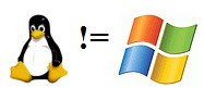 Linux is NOT Windows