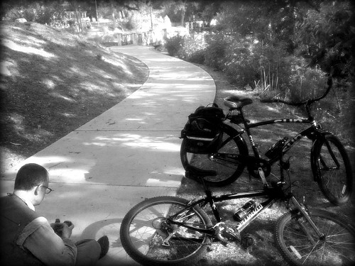 Four Bridges  (Geocaching via Bicycle at Brakenridge Park)