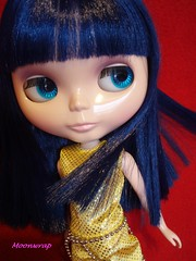Azure :) (Moon__Stone) Tags: blue butterfly hair asian gold one bowie all azure vision fantasy sound blythe neo goldie encore sbl 7365