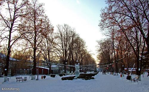 Parcul Cancicov Bacau in Iarna 2008 - 2009