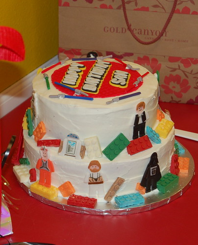 Lego Themed Birthday Cake By Veronica Peralta
