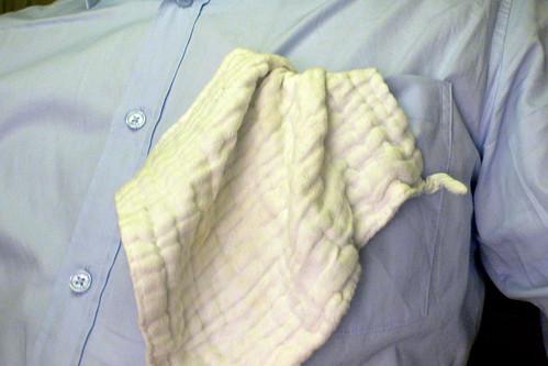 Einstecktuch, Kavaliertuch oder Stecktuch, franz. Pochette, Schmetterer-Tuch