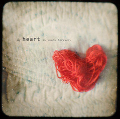 my heart is yours forever (pinkorchid_too (Sandra)) Tags: red stilllife heart yarn textures project365 ttv jan21 throughtheviewfinder project3661