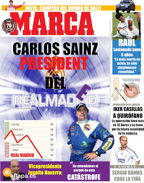 carlos sainz presidente del real madrid