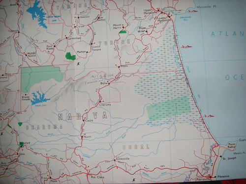 Nariva Swamp Map