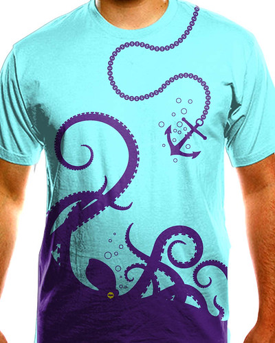 Octopus on yo shirt mockup