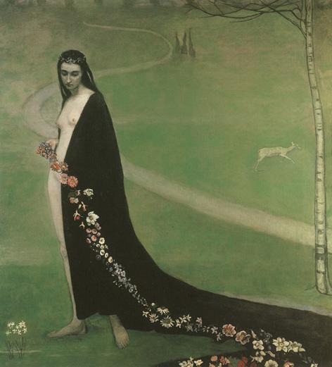 femme avec des fleurs  (spring)