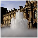 Cour Napoleon at the Louvre, Paris
