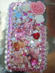 My new Iphone case ~back~ (Pinky Anela) Tags: pink red white cute rabbit japan japanese heart clear 3g gems iphone