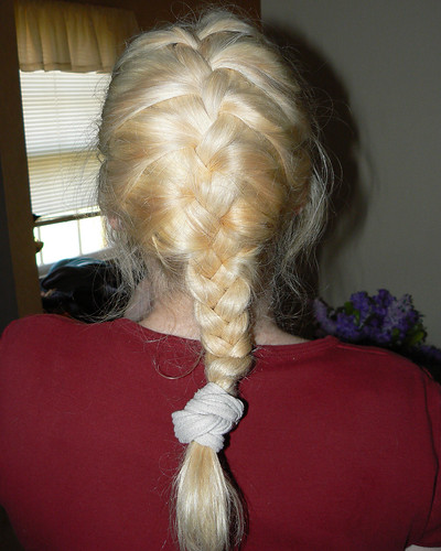 french braid hairstyle. Some cool raided hair styles