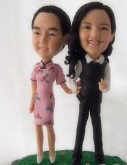 what about change our position? (clay figurines) Tags: wedding cake toppers