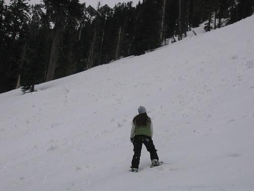 Emily snowshoeing