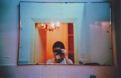 ^ (Ilaria ♠) Tags: france me colors self hotel mirror lomo lca xpro crossprocess montpellier francia specchio selfshot agfactprecisa100