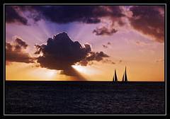 Sailing into the Sunset (HawkeyePilot (limited Flickr time)) Tags: sailboat stmaarten copy dsc8137