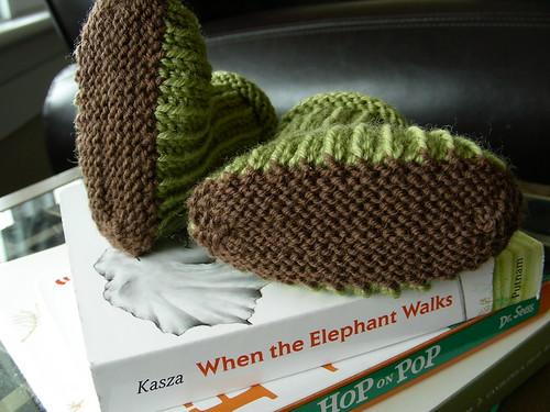 green bootie soles