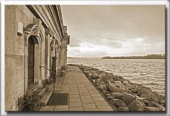 rutland water, Normanton Church, #5 (Som Jandu) Tags: water architecture buildings landscapes rocks seascapes shoreline coastline rutland normantonchurch