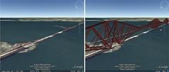 forth bridge on google earth (cloudberrynine) Tags: bridge google earth forth