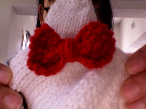 Little Red Bow for the HK beanie