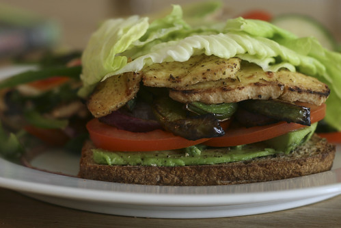 Open-Faced Grilled Tofu Sandwich